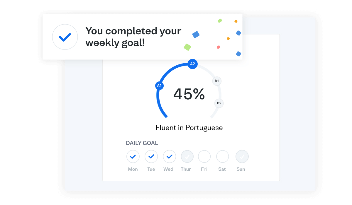 Progress faster when learning Brazilian Portuguese with a Study Plan