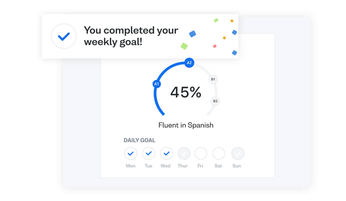 Learn Spanish faster online with Busuu's Study Plan